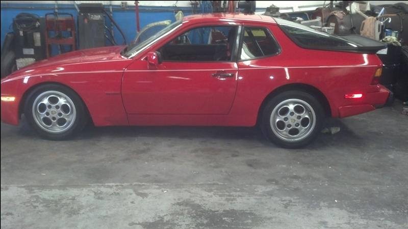photo of 1988 Red Porsche 944s in the shop