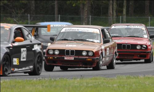 photo of Sam Jadzcak racing in Number 53 BMW at New Jersey Motor Sports